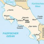 Landkarte-Costa_Rica mit der Halbinsel Nicoya